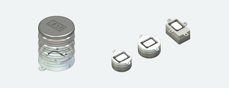 ESU LokSound 50334 Speaker 20 x 40 mm Square 4 Ohm with Sound Chamber Baffle